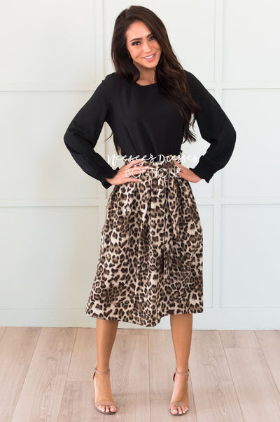 Look This Way Modest Tie Skirt Modest Dresses vendor-unknown