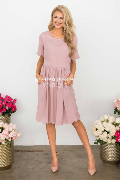 The Katrina Scallop Hem Dress Modest Dresses vendor-unknown