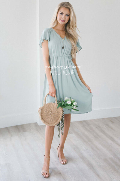 The Aubrey - Short Sleeves Modest Dresses vendor-unknown