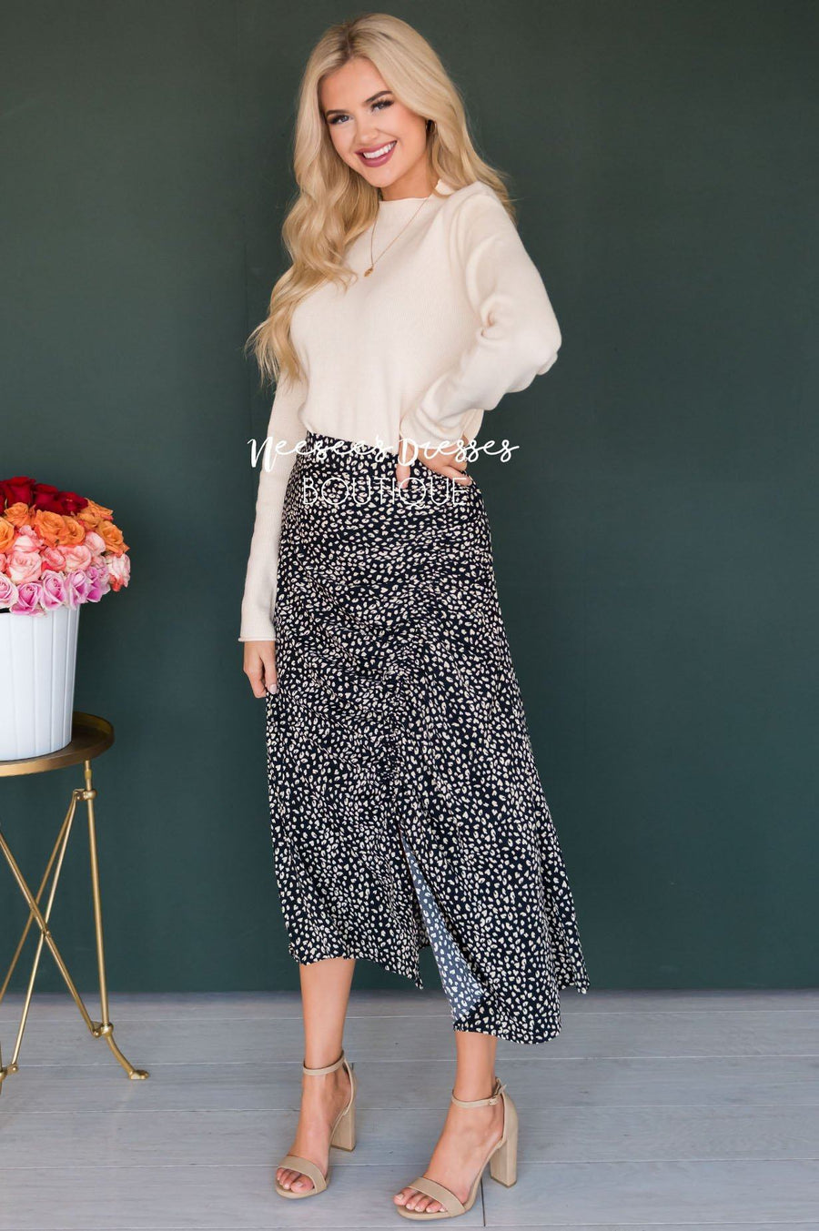 Love & Laughter Ruched Skirt