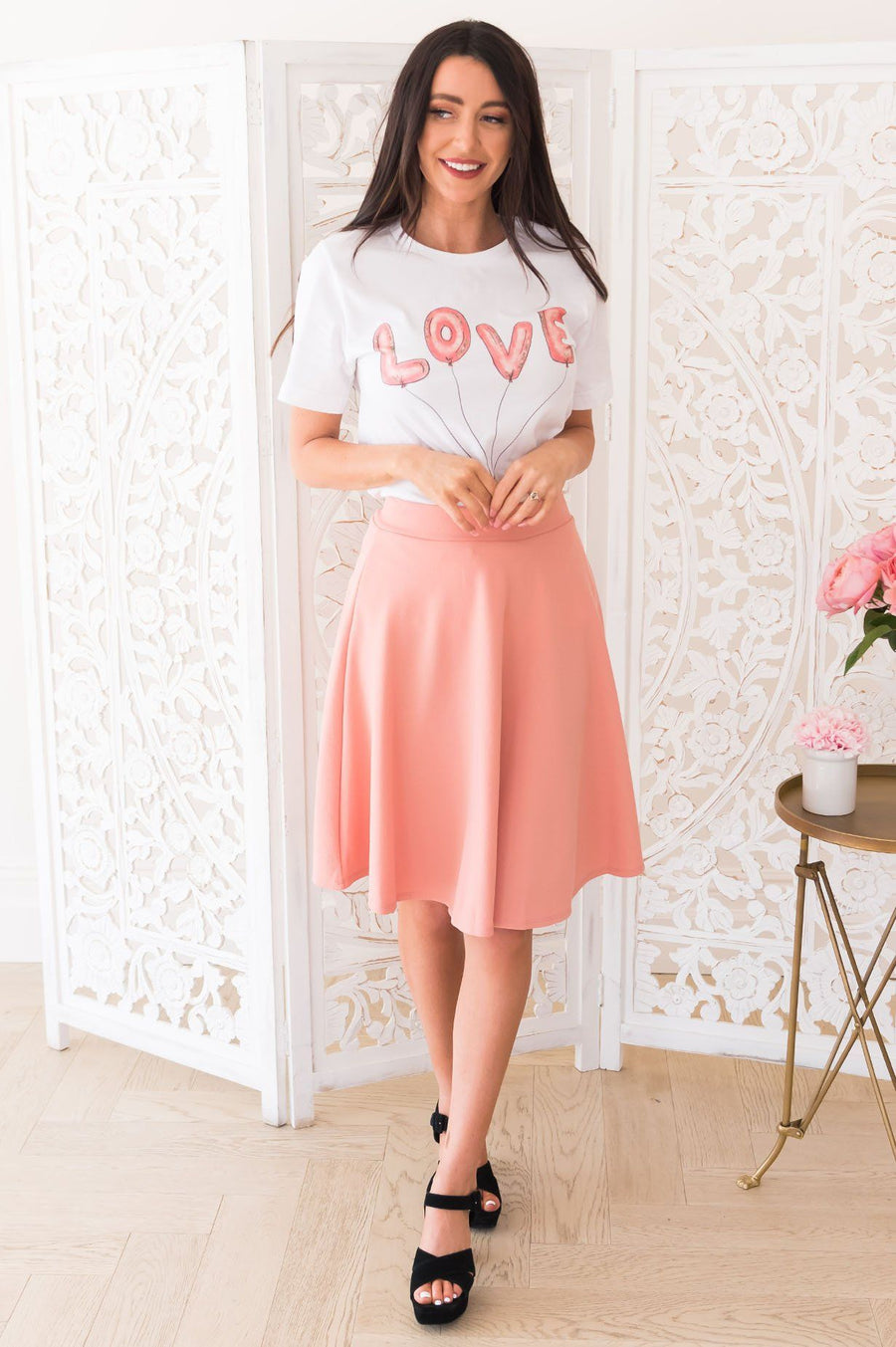 Love At First Sight Modest Circle Skirt