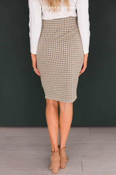 Made For More Plaid Pencil Skirt Skirts vendor-unknown