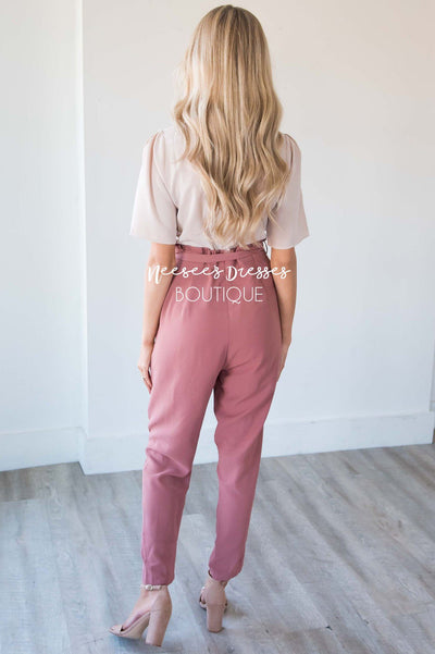 The Madison Two Tone Jumpsuit Modest Dresses vendor-unknown