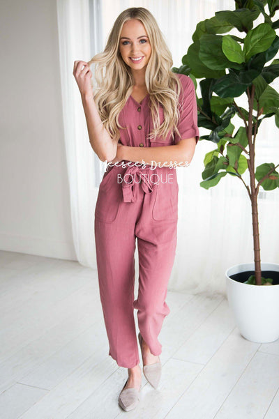 The Ellyn Jumpsuit Modest Dresses vendor-unknown