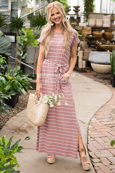 The Maggie Striped Maxi Dress Modest Dresses vendor-unknown