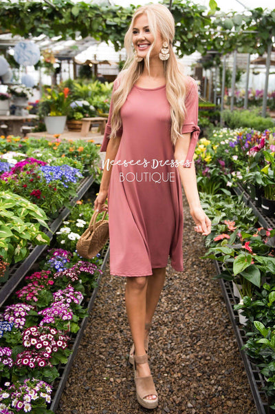 The Tara Tie Dress Modest Dresses vendor-unknown