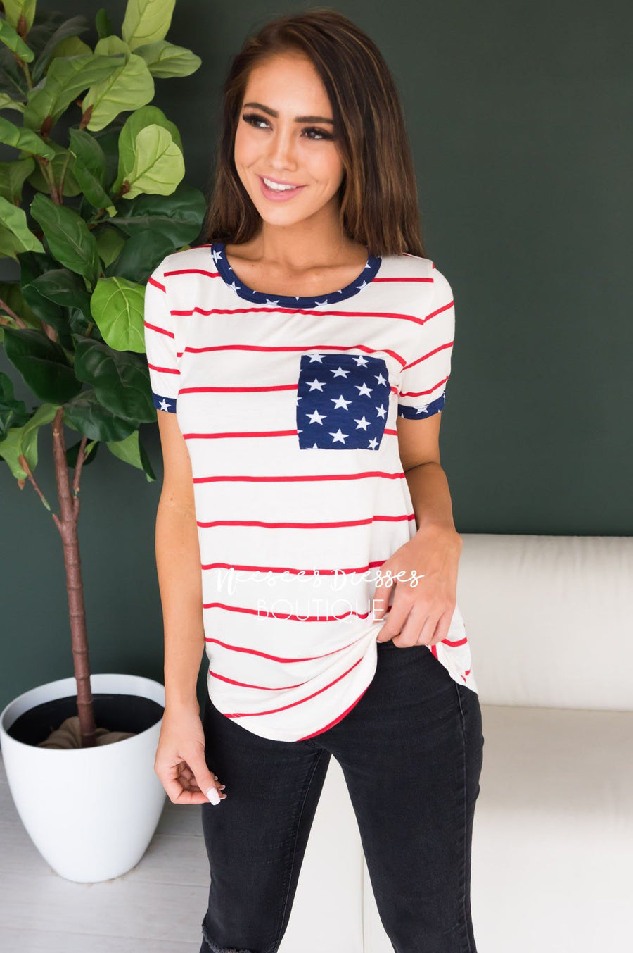 Home of the Brave Modest Tee