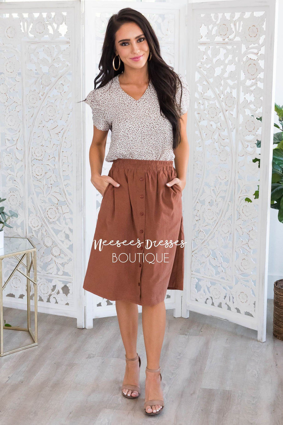 Always First Modest Corduroy Skirt Modest Dresses vendor-unknown