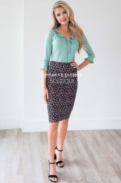 Ponte Pencil Skirt Skirts vendor-unknown