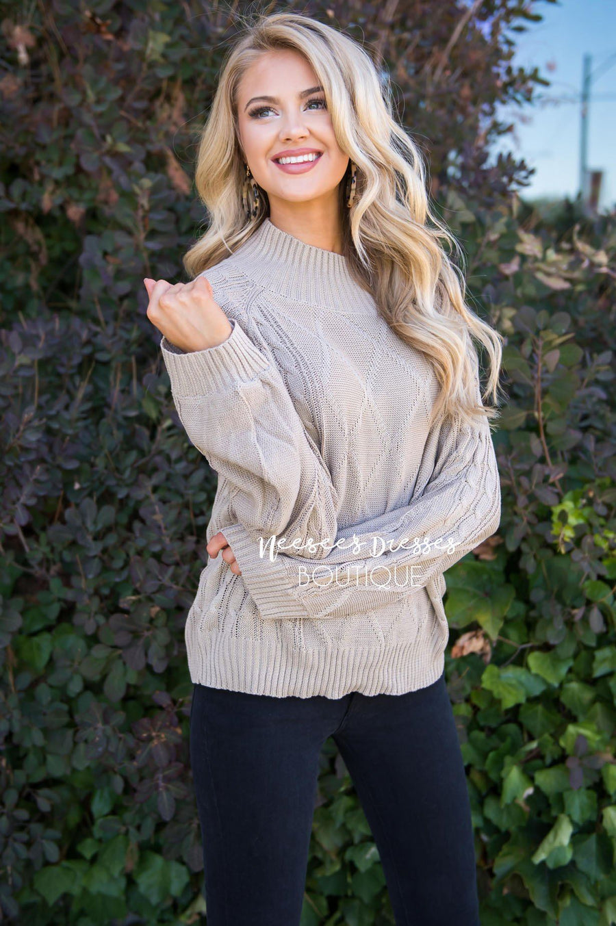 Missing Me cable knit sweater