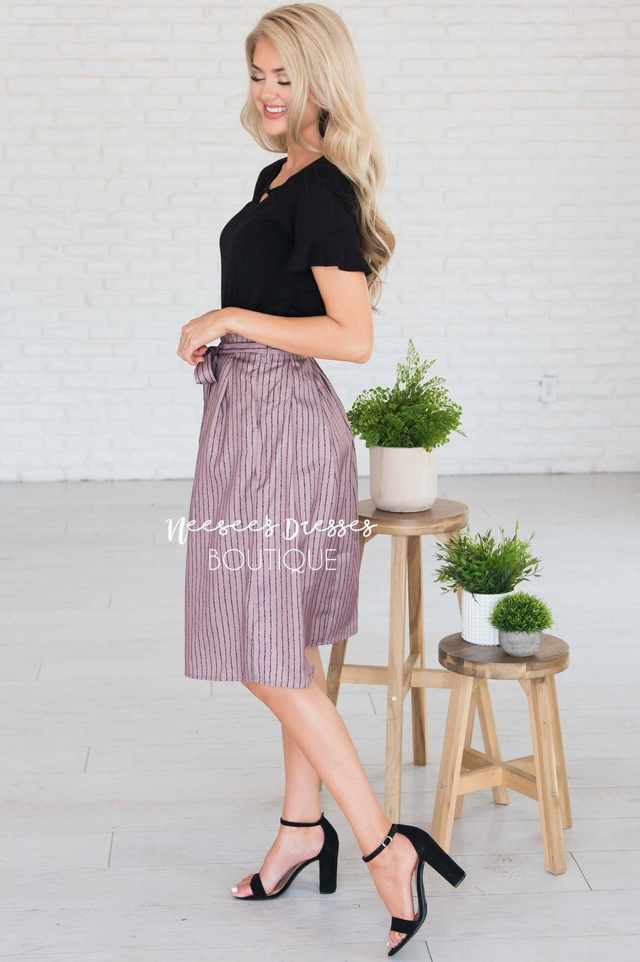 Forever Stylish Tie Waist Skirt