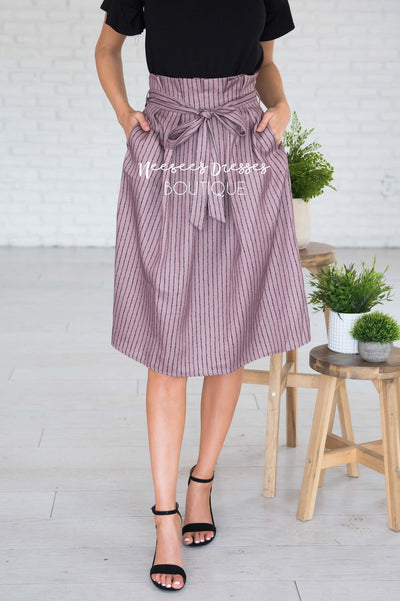 Forever Stylish Tie Waist Skirt Modest Dresses vendor-unknown