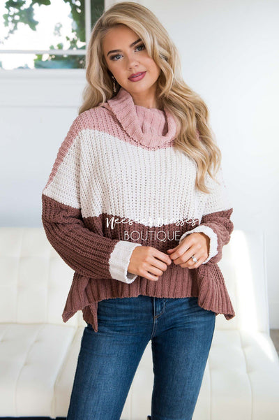 Neapolitan Turtleneck Sweater Tops vendor-unknown