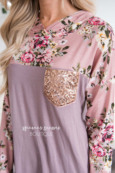 Like a Love Song Sequin Pocket Hoodie