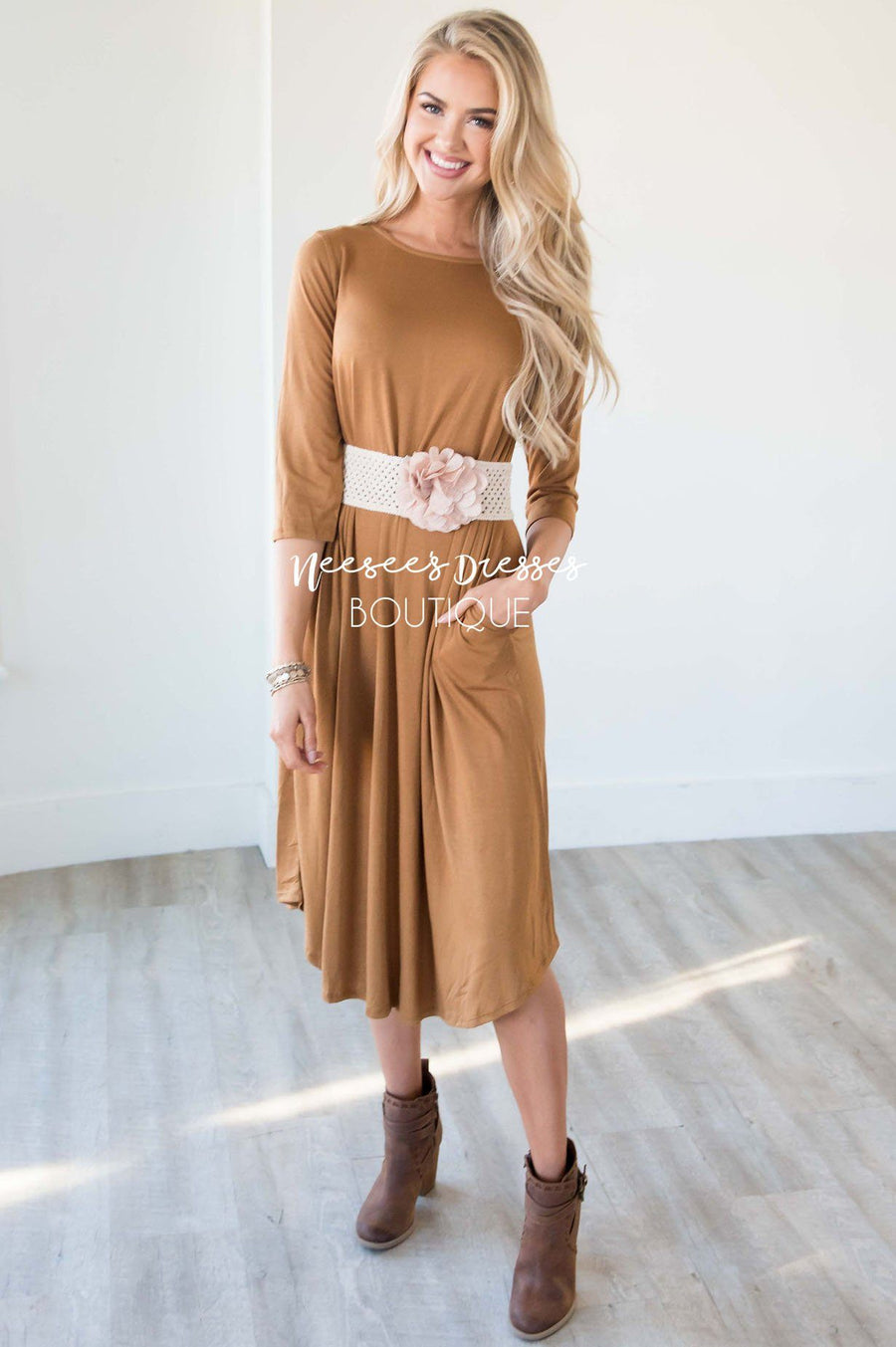 The Shaunee Solid Swing Dress