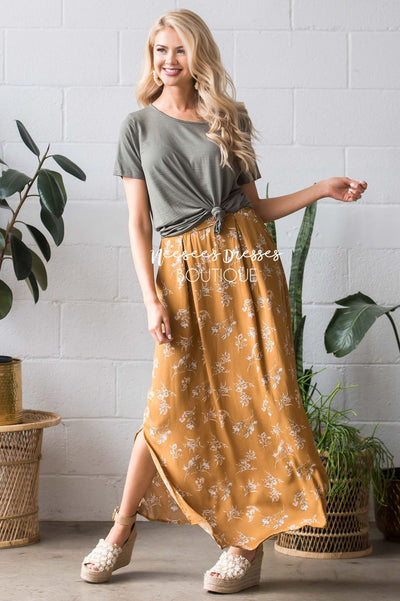 Boho Tie Waist Maxi Skirt Skirts vendor-unknown