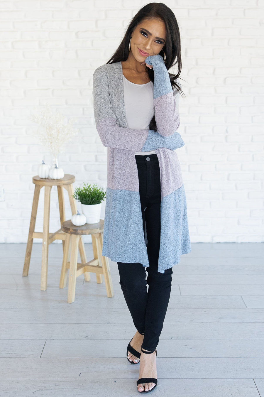 Worth The Chase Modest Block Cardigan