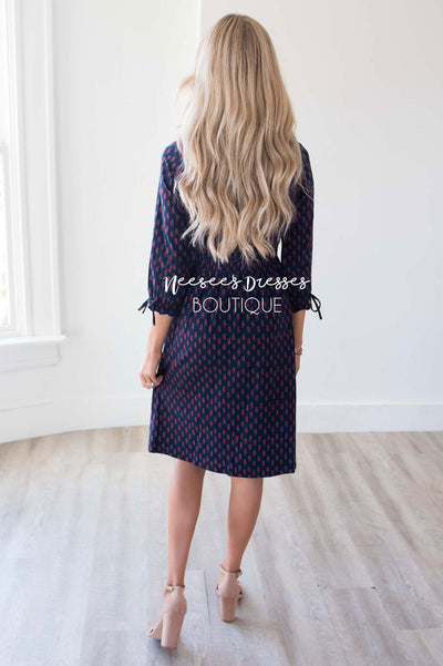 The Claudia Smocked Detail Dress Modest Dresses vendor-unknown