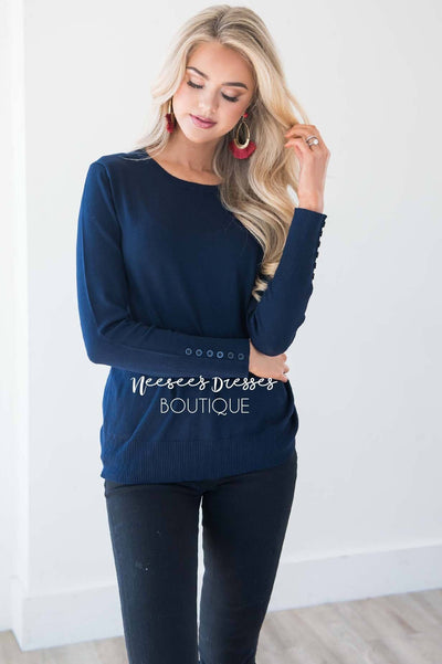 In Love with Fall Button Sleeve Sweater