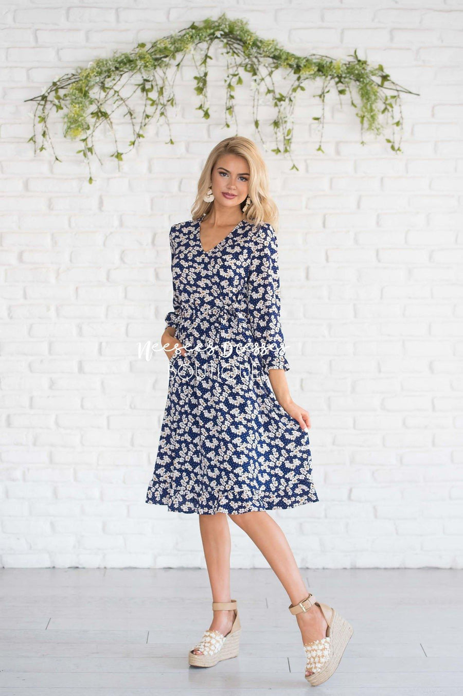 The Adali Faux Wrap Dress