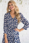 The Adali Faux Wrap Dress Modest Dresses vendor-unknown
