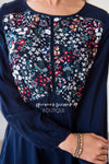 One Wish Floral Frenzy Peplum Top Tops vendor-unknown