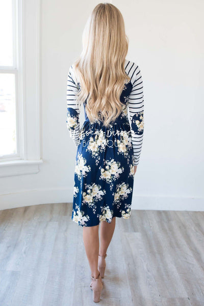 The Daryl Elbow Patch Dress Modest Dresses vendor-unknown