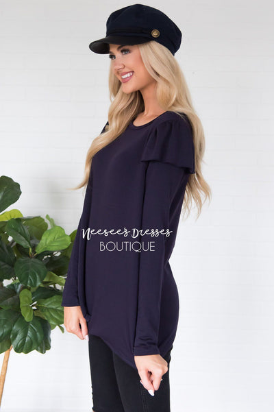 You're So Beautiful Ruffle Sleeve Top Modest Dresses vendor-unknown