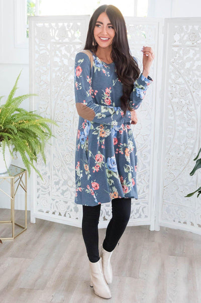 Winter Blooms Modest Tunic Modest Dresses vendor-unknown