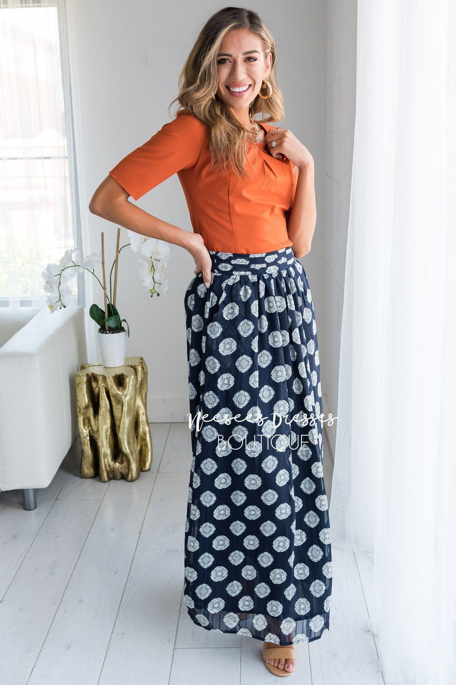 Always Loving Medallion Maxi Skirt