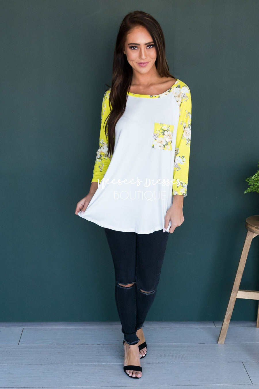 Back Again Modest Baseball Tee Modest Dresses vendor-unknown