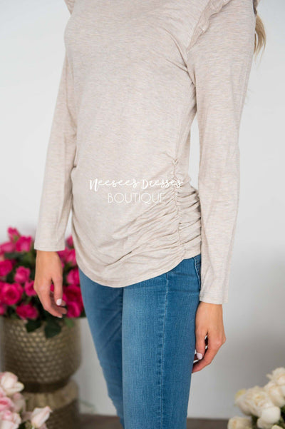 Be Extraordinary Ruffle Shoulder Sweater Tops vendor-unknown