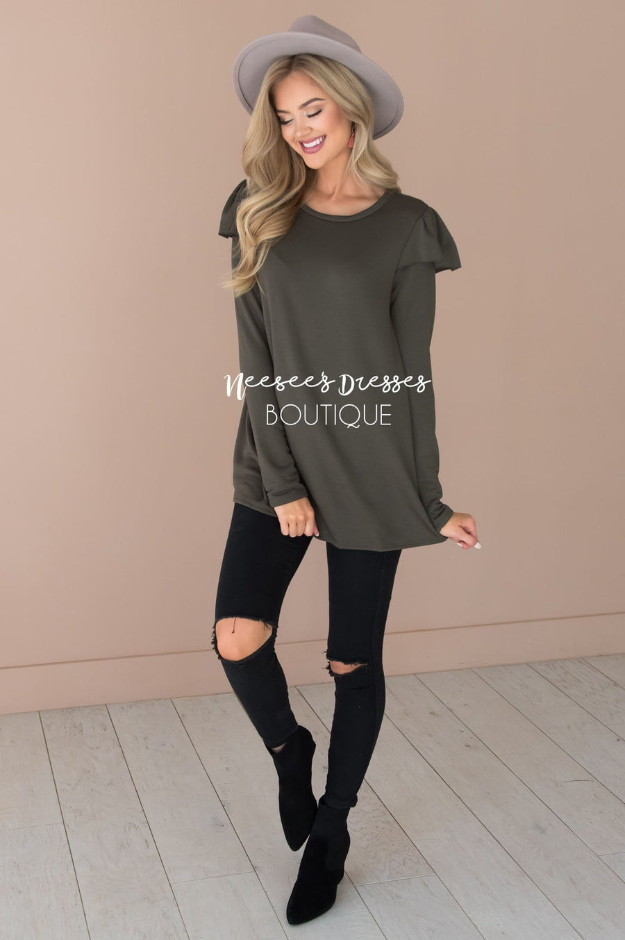 You're So Beautiful Ruffle Sleeve Top