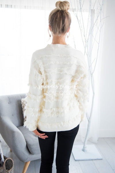 On The Fringe Sweater Tops vendor-unknown