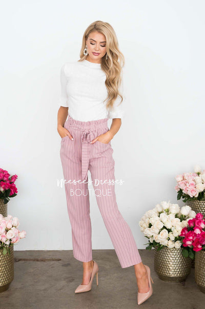 Paper Bag High Waisted Ruffle Pants Skirts vendor-unknown