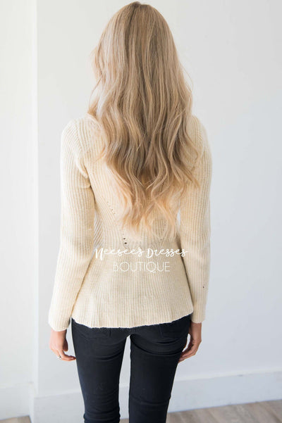 Fit And Flare Knit Sweater