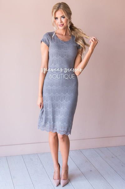 Peaceful Lace Dress Modest Dresses vendor-unknown