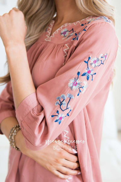 One Love Floral Embroidered Blouse