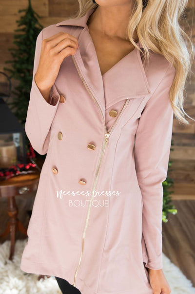 Beautiful Gold Button Peacoat