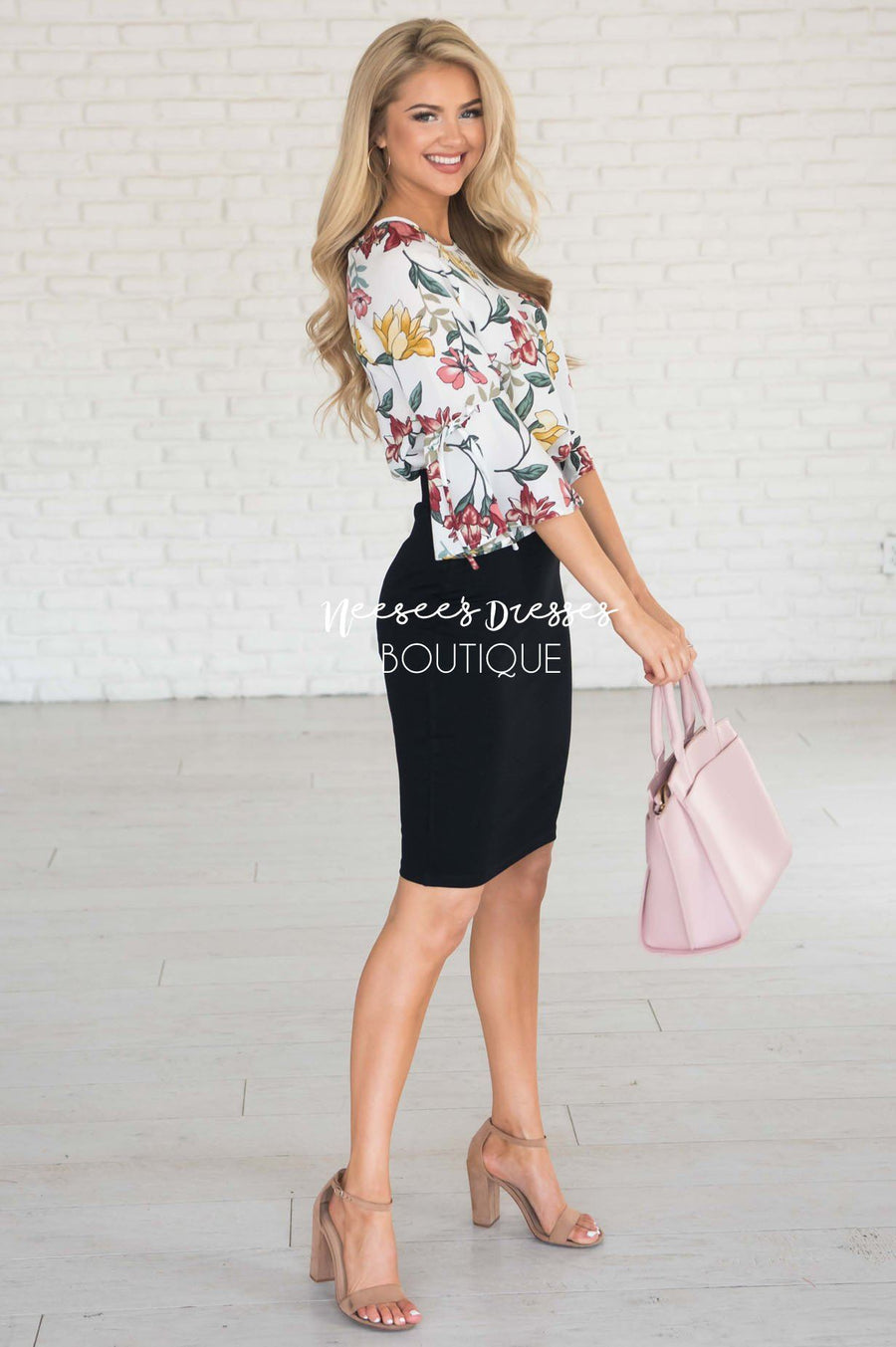 Perfect Fit Black Pencil Skirt