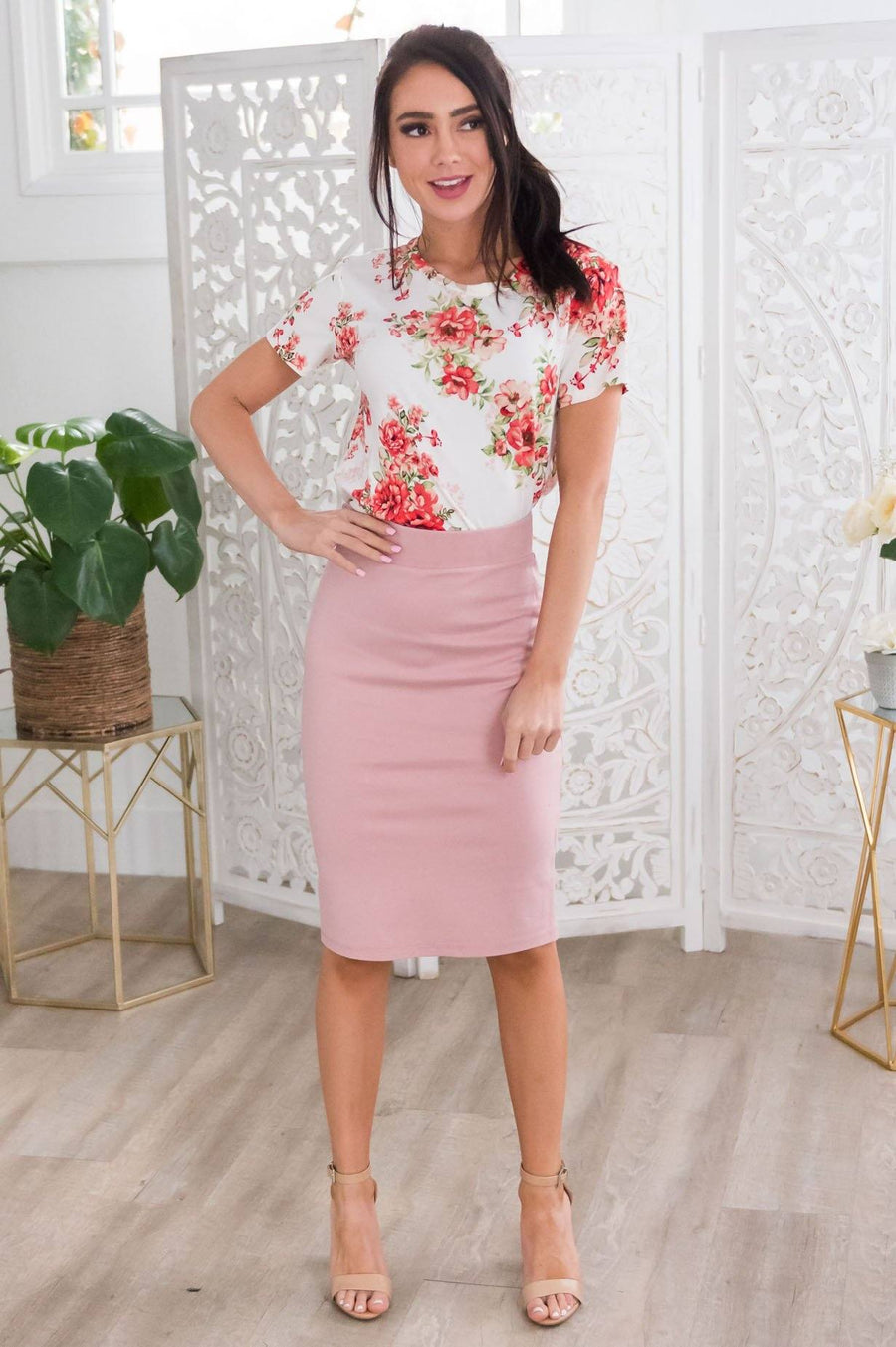 Perfect Fit Modest Pencil Skirt