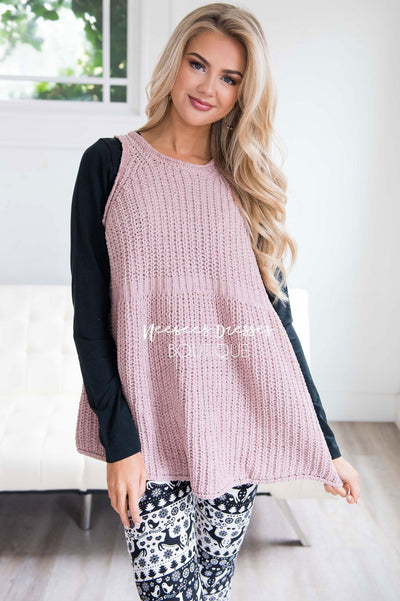 Meet Me By The Fire Knit Tunic Tops vendor-unknown