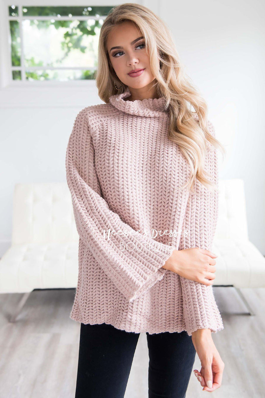 Knit For Me Bell Sleeve Sweater