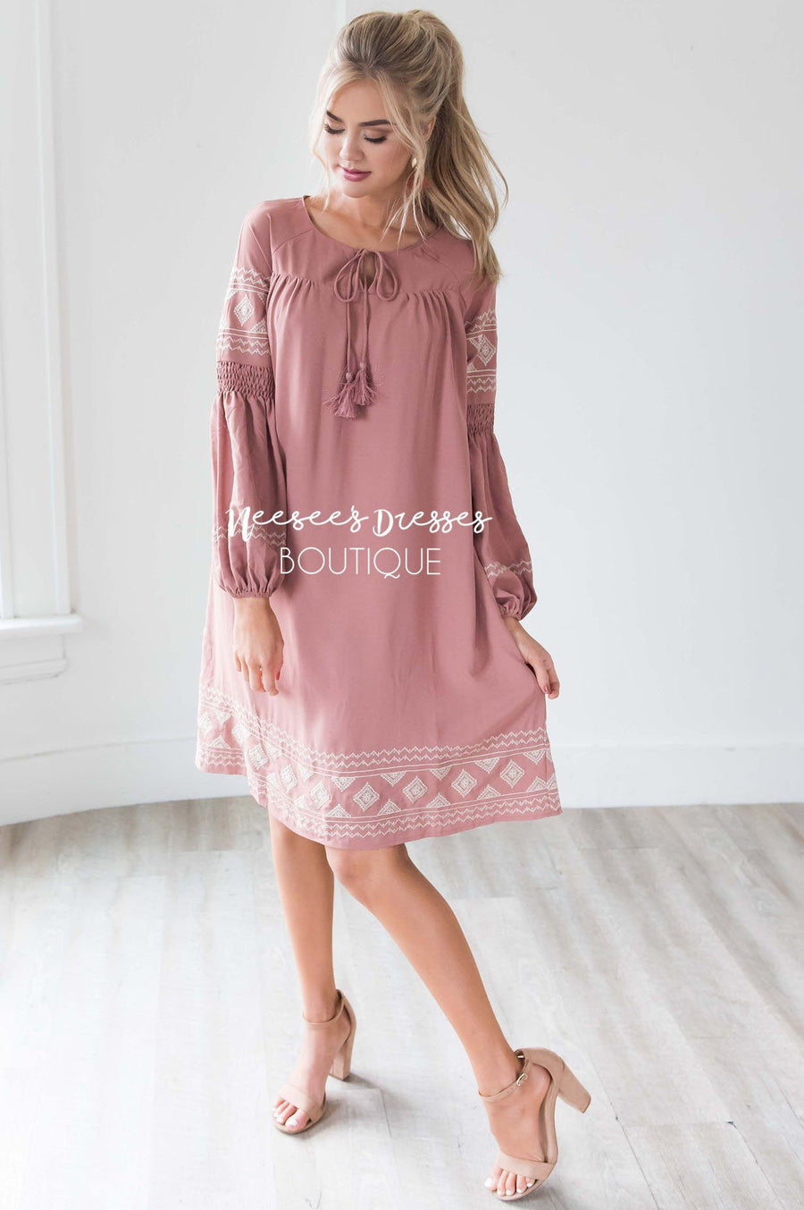 The Allie Boho Embroidered Dress