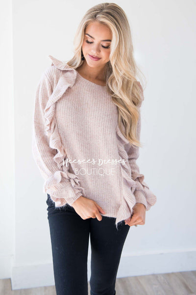 Perfect Romance Ruffle Knit Sweater