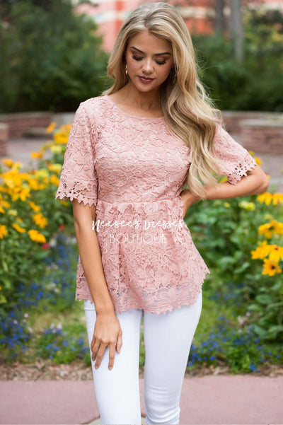 You're So Enchanting Lace Top Tops vendor-unknown