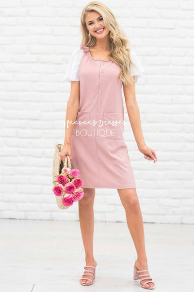 The Lauren Overall Dress Modest Dresses vendor-unknown