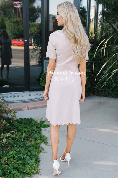 The Carolyn Scallop Hem Dress Modest Dresses vendor-unknown