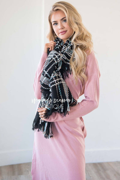 Love Comes Naturally Plaid Blanket Scarf