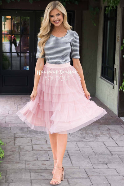 Fall in Love Tiered Tulle Skirt Skirts vendor-unknown